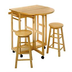 """Winsome Wood 89332 32.8"""" Beech Wood Breakfast Bar Cart With"""