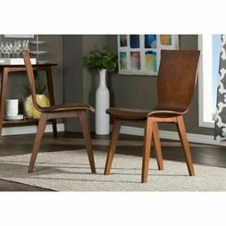 Wood Dining Chair Set Two Piece Kitchen Home Office Furnitur