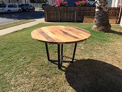 Wood Table - Dining Table - Reclaimed Wood Table - Round Tab