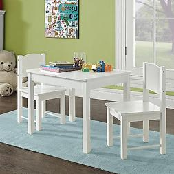 Wooden Kids Table and 2 Chairs Set Solid Hard Wood sturdy ch