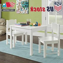 Wooden Kids Table and Chairs Set Solid Hard Wood sturdy chil