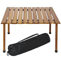 Best Choice Products Foldable Portable Wooden Table for Picn