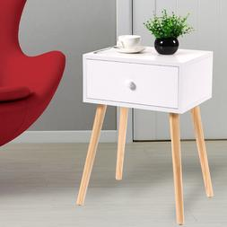 Wooden Tea /Side Table Nightstand With Drawer Modern Retro D