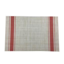 Woven Vinyl Placemats for Dining Table Heat Resistant PVC Re