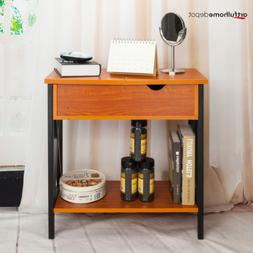X-Shape Flip Collection Top Table Metal Stand Wood End Side